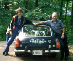 Scottie & Jack with the painted car