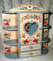 Mini Heart Schrank with Shelves